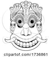 02/09/2021 - Raksha Mask In Black And White