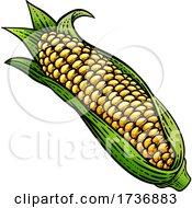 02/14/2021 - Corn Vegetable Vintage Woodcut Illustration
