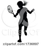 02/15/2021 - Tennis Silhouette Sport Player Woman