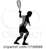 02/15/2021 - Tennis Silhouette Sport Player Man