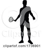 02/14/2021 - Tennis Silhouette Sport Player Man