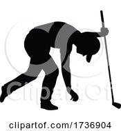 02/14/2021 - Golfer Golf Sports Person Silhouette