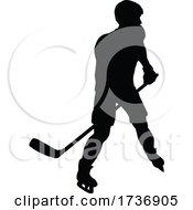 02/14/2021 - Ice Hockey Player Sports Silhouette