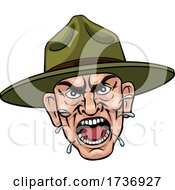 02/15/2021 - Angry Army Bootcamp Drill Sergeant Cartoon