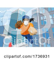 02/15/2021 - Delivery Courier Superhero Flying Super Hero