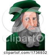 Leonardo Da Vinci Portrait Illustration