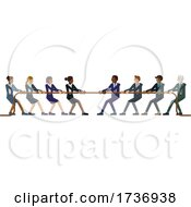 02/15/2021 - Tug Of War Rope Pulling Business People Concept