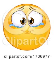 Yellow Smiley Emoji Emoticon with Tears of Joy by yayayoyo #COLLC1736977-0157