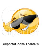 Yellow Smiley Emoji Emoticon Flirting and Touching His Sunglasses by yayayoyo #COLLC1736978-0157