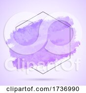 Abstract Background With Grunge Stroke And Hexagonal Frame