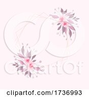 Decorative Background With Hand Painted Watercolour Floral Design