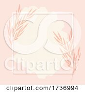 Elegant Frame Background With Hand Painted Watercolour Elements