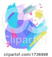 Modern Retro Styled Hand Painted Watercolour Background