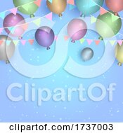 Birthday Party Balloons And Banner