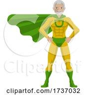 Super Hero Mature Man Cartoon