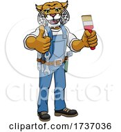 Wildcat Painter Decorator Holding Paintbrush
