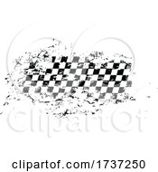 Distressed Checkered Racing Flag
