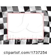 Checkered Racing Flag Border