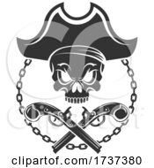 02/22/2021 - Pirate Skull And Crossed Pistols