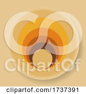 02/22/2021 - Abstract 70s Design Circular Logo On Beige