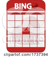 Poster, Art Print Of Valentines Day Bingo Card With Love In The Middle