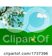 Poster, Art Print Of Spring Season Natural View Background