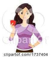 Teen Girl Female Condoms Illustration