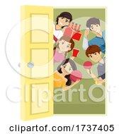 Teens College Beer Game Door Illustration