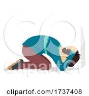Poster, Art Print Of Teen Boy Tornado Drill Face Wall Illustration