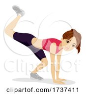 02/22/2021 - Teen Girl Animal Exercise Scorpion Illustration