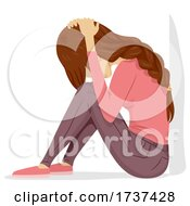 Poster, Art Print Of Teen Girl Tornado Drill Sit Cover Illustration