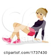 Teen Girl Animal Exercise Crab Walk Illustration