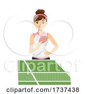 Teen Girl Play Table Tennis Illustration