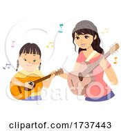 02/22/2021 - Teen Girl Down Syndrome Music Therapy Illustration