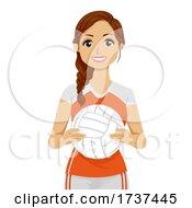 02/22/2021 - Teen Girl Volleyball Player Illustration