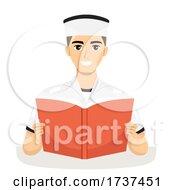 Teen Guy Navy Book Illustration
