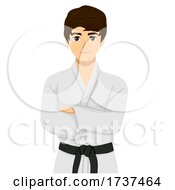 Teen Boy Taekwondo Illustration