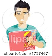 Teen Boy Look Pornographic Magazine Illustration