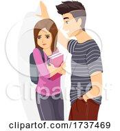 02/22/2021 - Teen Boy Tease Girl Sexual Assault Illustration