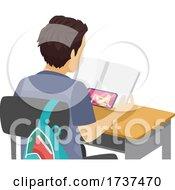 02/22/2021 - Teen Boy Watch Porn In Class Mobile Illustration
