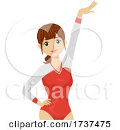 02/22/2021 - Teen Girl Gymnast Illustration