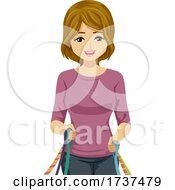 Teen Girl Job Dog Walking Pet Sitting Illustration