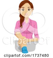Teen Girl Job Hired Shake Hands Illustration