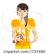 02/22/2021 - Teen Girl Tackle Football Player Illustration