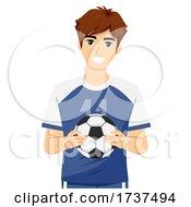02/23/2021 - Teen Guy Hold Soccer Ball Illustration