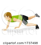 Teen Boy Animal Exercise Chameleon Illustration