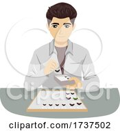 02/23/2021 - Teen Boy Entomology Pinned Insects Illustration