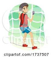 02/23/2021 - Teen Boy Net Traverse Illustration