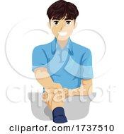 Teen Boy Job Hired Shake Hands Illustration