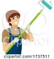 02/23/2021 - Teen Boy Job House Painter Illustration